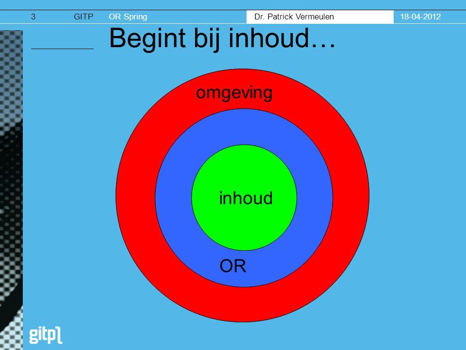 18-04-2012 Begint bij inhoud… omgeving inhoud OR