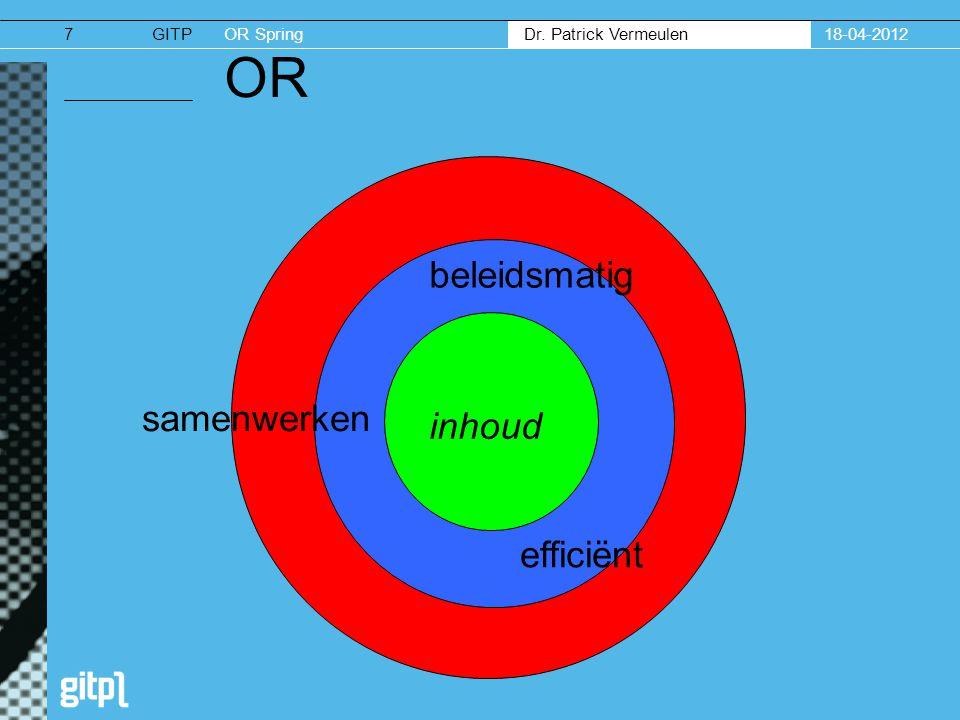 18-04-2012 OR beleidsmatig samenwerken inhoud efficiënt
