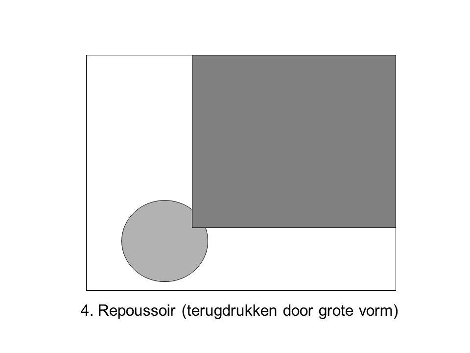 4. Repoussoir (terugdrukken door grote vorm)