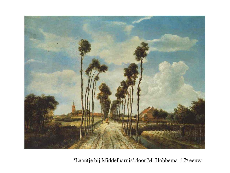 'Laantje bij Middelharnis' door M. Hobbema 17e eeuw