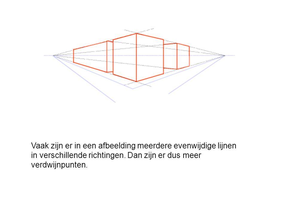 Vaak zijn er in een afbeelding meerdere evenwijdige lijnen in verschillende richtingen.