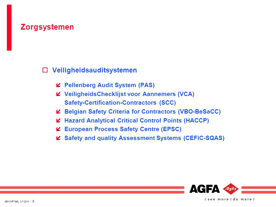 Zorgsystemen Veiligheidsauditsystemen Pellenberg Audit System (PAS)