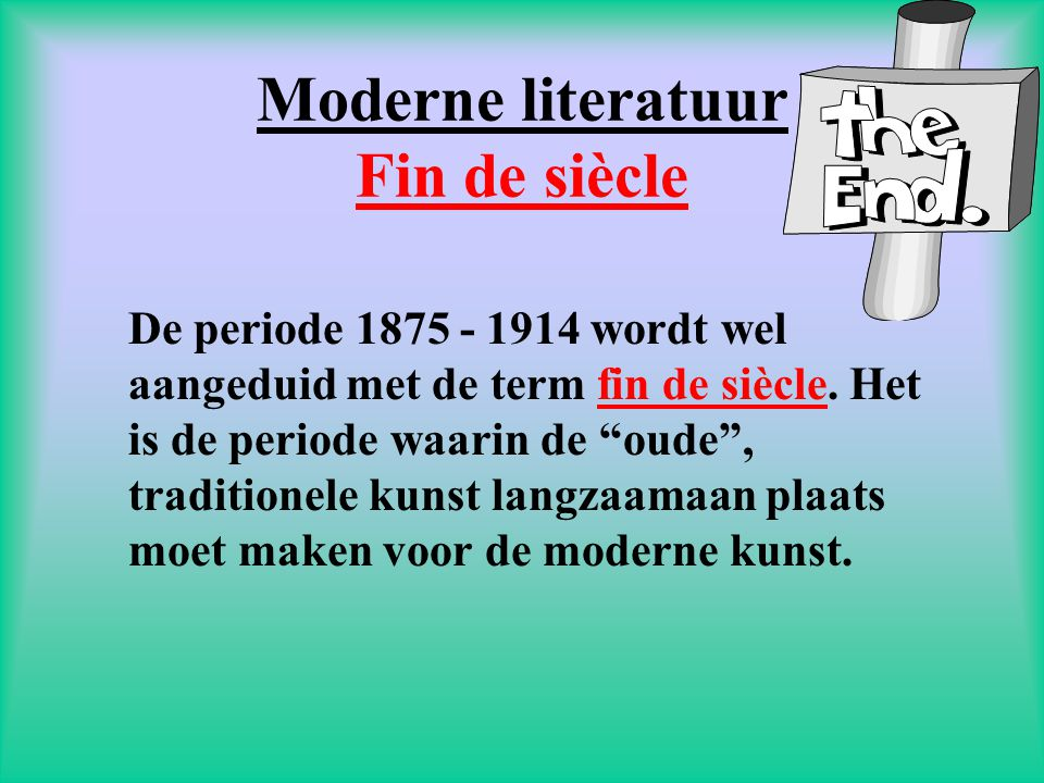 Moderne literatuur Fin de siècle