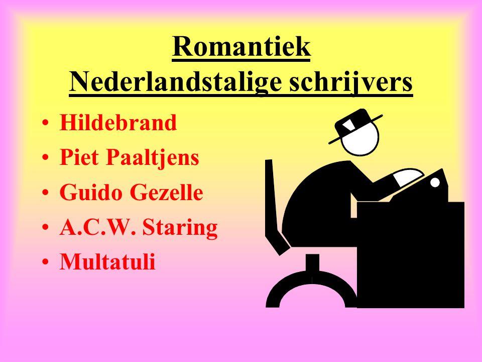 Romantiek Nederlandstalige schrijvers