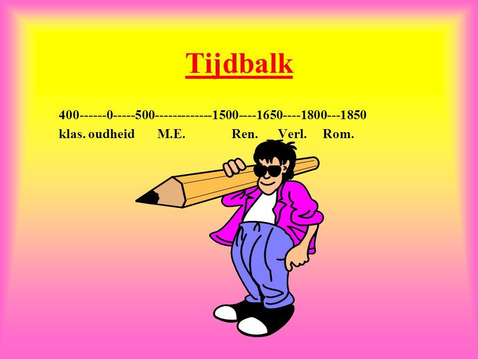 Tijdbalk 400------0-----500-------------1500----1650----1800---1850