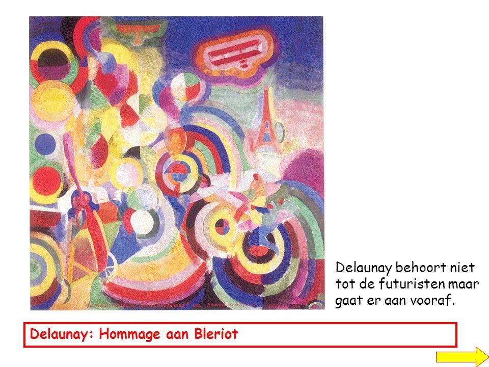 Delaunay behoort niet tot de futuristen maar gaat er aan vooraf.