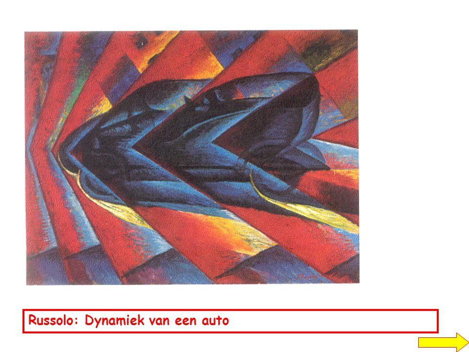 Russolo: Dynamiek van een auto