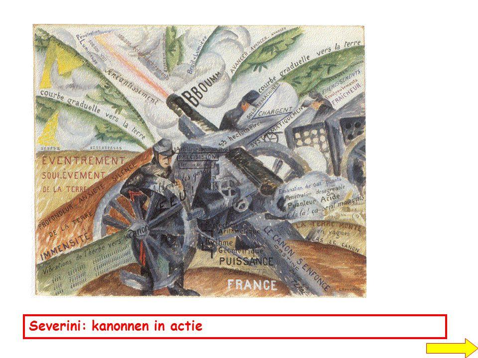 Severini: kanonnen in actie