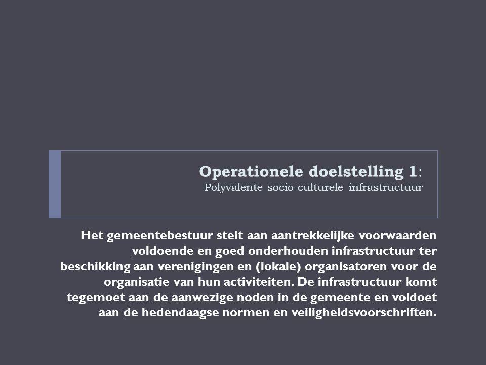 Operationele doelstelling 1: Polyvalente socio-culturele infrastructuur
