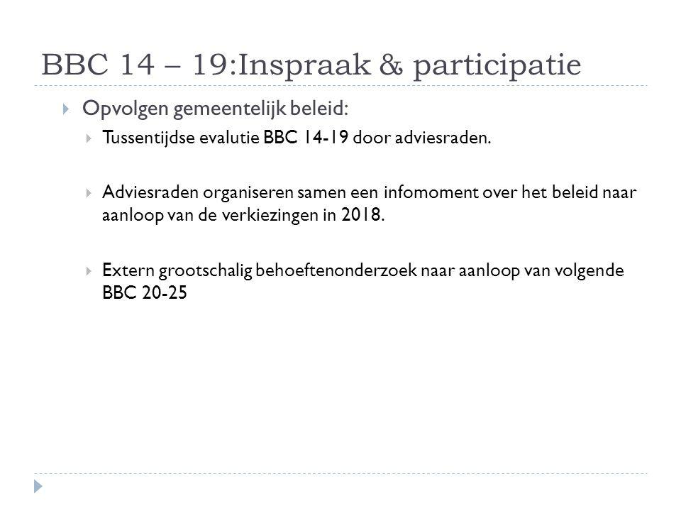 BBC 14 – 19:Inspraak & participatie