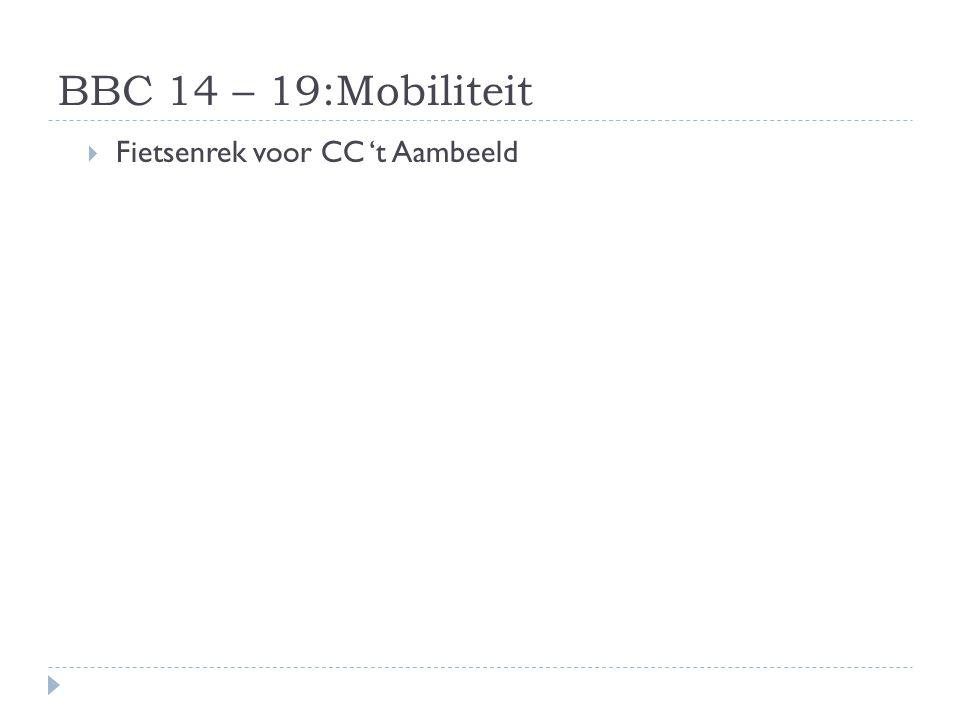 BBC 14 – 19:Mobiliteit Fietsenrek voor CC 't Aambeeld