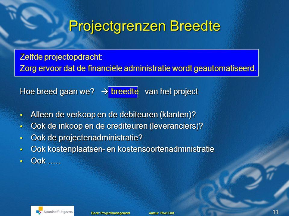 Projectgrenzen Breedte