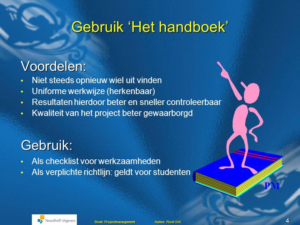 Gebruik 'Het handboek'