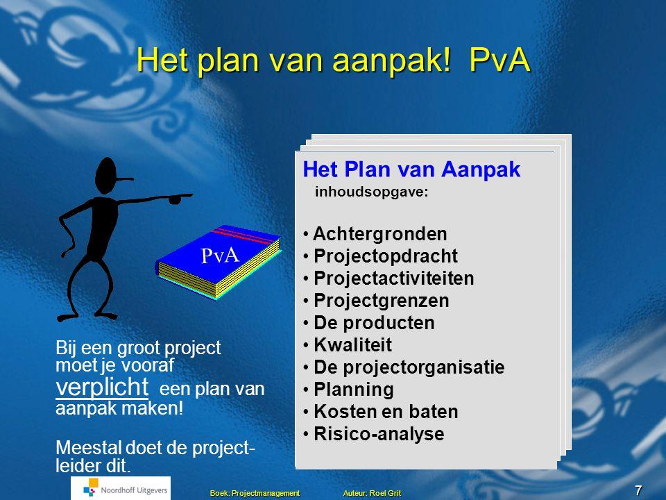 Het plan van aanpak! PvA Het Plan van Aanpak PvA Achtergronden