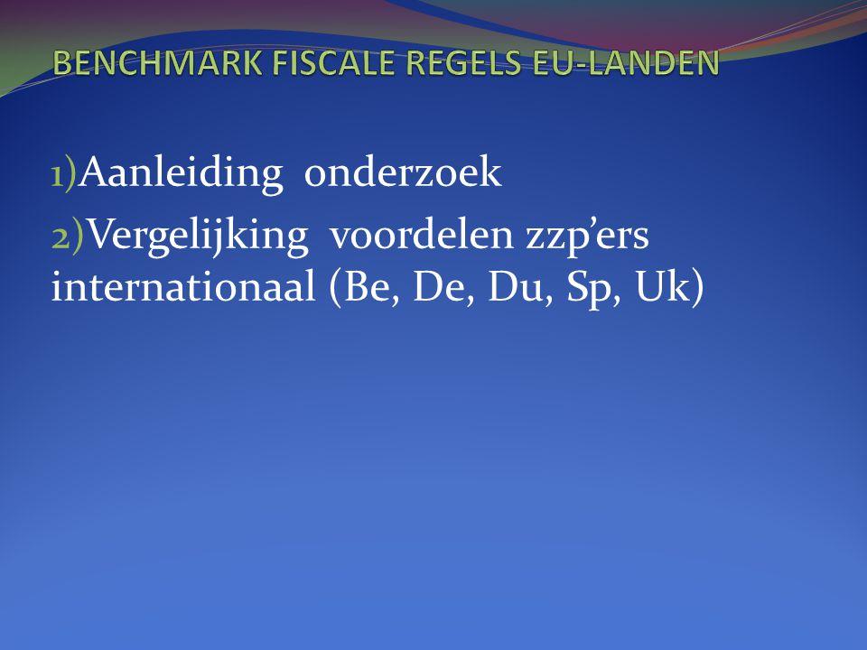 BENCHMARK FISCALE REGELS EU-LANDEN