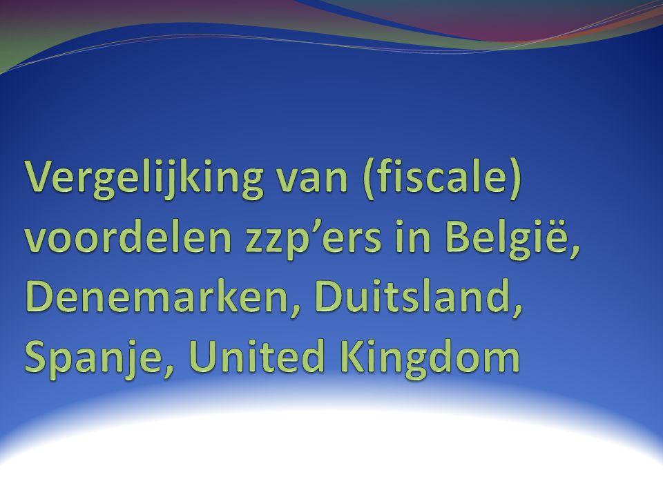 Vergelijking van (fiscale) voordelen zzp'ers in België, Denemarken, Duitsland, Spanje, United Kingdom