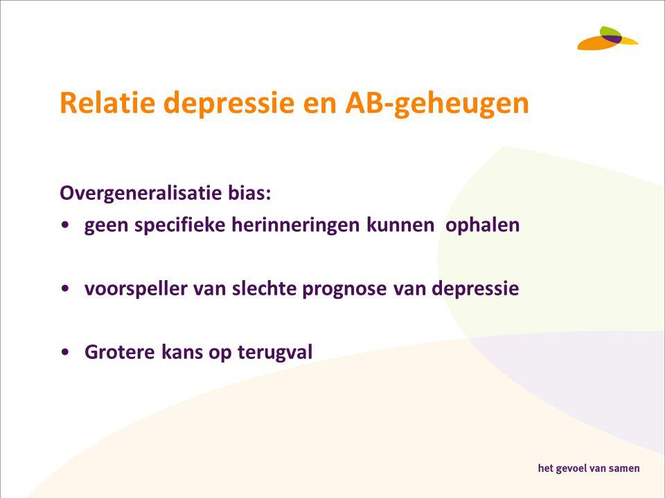 Relatie depressie en AB-geheugen