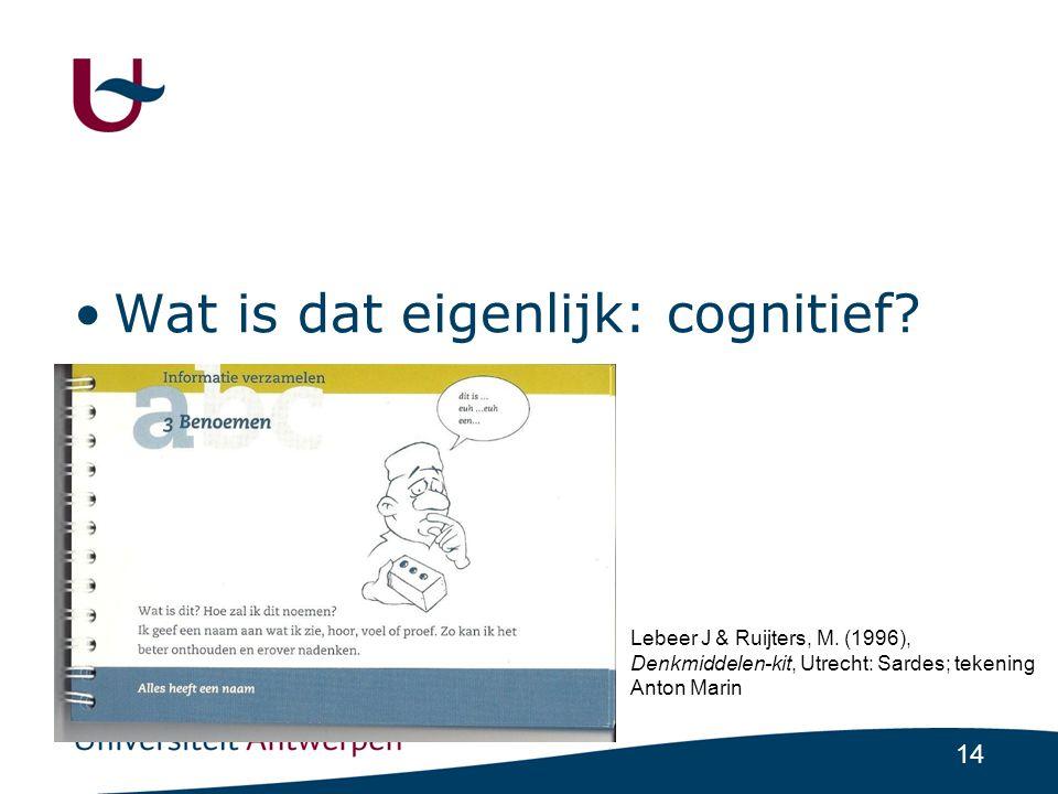Wat is dat eigenlijk: cognitief