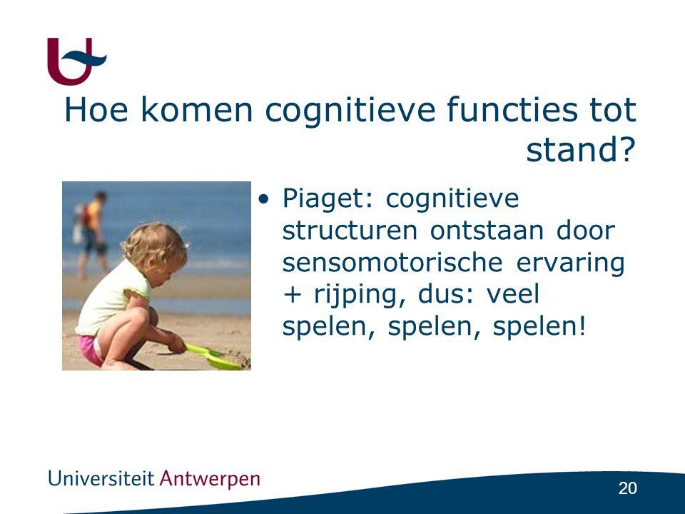 Hoe komen cognitieve functies tot stand