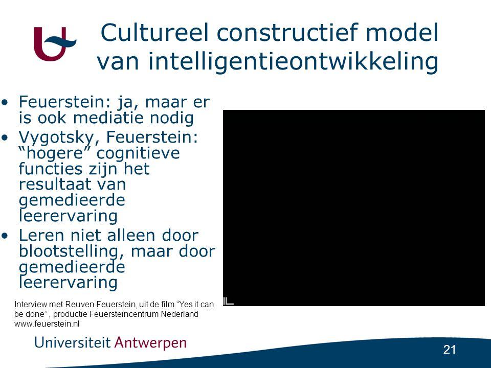Cultureel constructief model van intelligentieontwikkeling