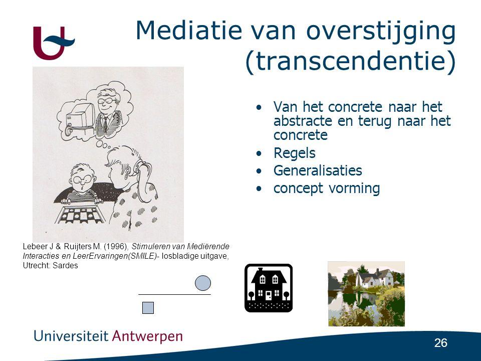 Mediatie van overstijging (transcendentie)