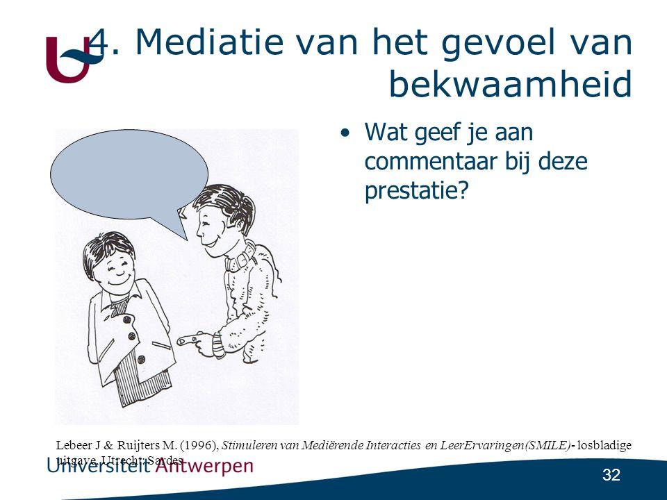 4. Mediatie van het gevoel van bekwaamheid