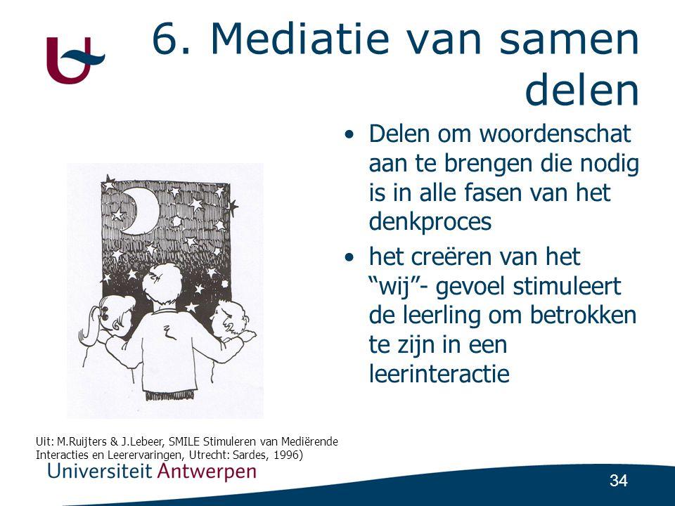 6. Mediatie van samen delen