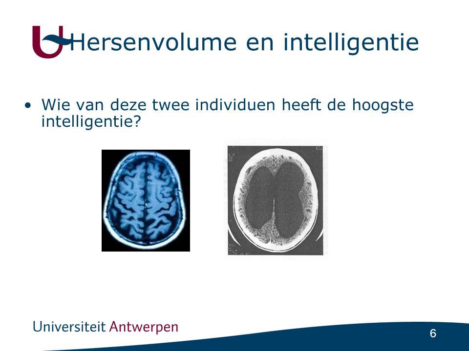 Hersenvolume en intelligentie