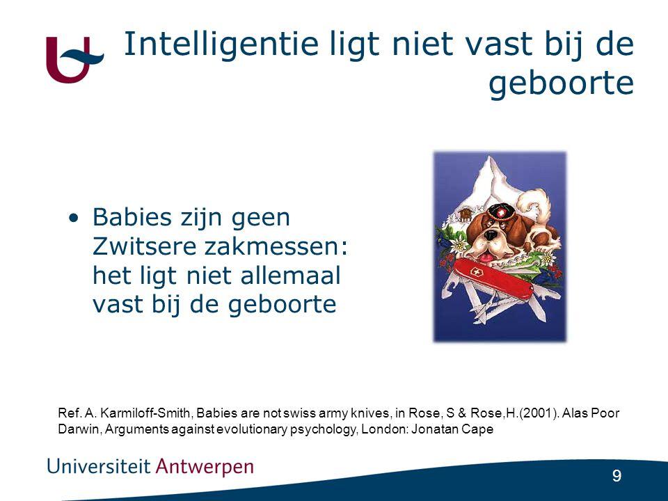 Intelligentie ligt niet vast bij de geboorte