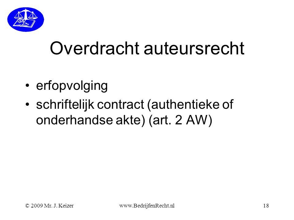 Overdracht auteursrecht