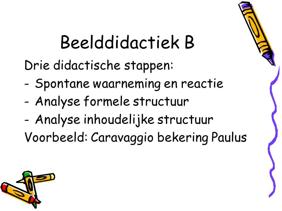 Beelddidactiek B Drie didactische stappen: