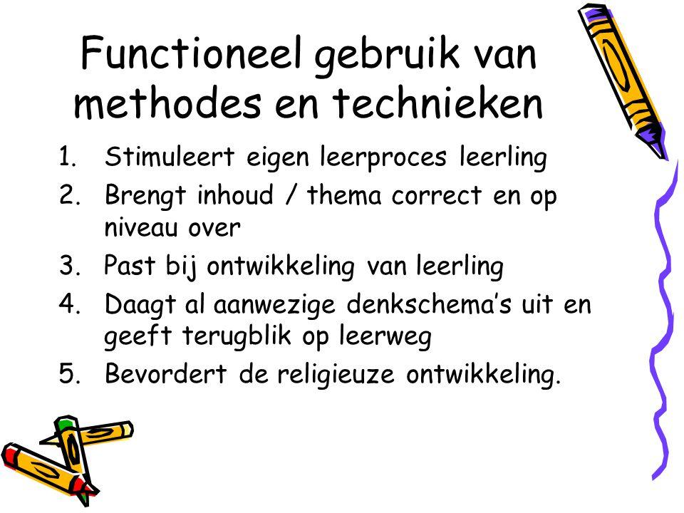 Functioneel gebruik van methodes en technieken