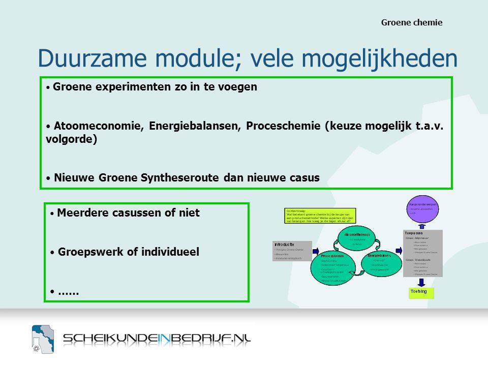Duurzame module; vele mogelijkheden