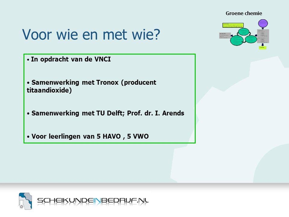 Voor wie en met wie Samenwerking met Tronox (producent titaandioxide)