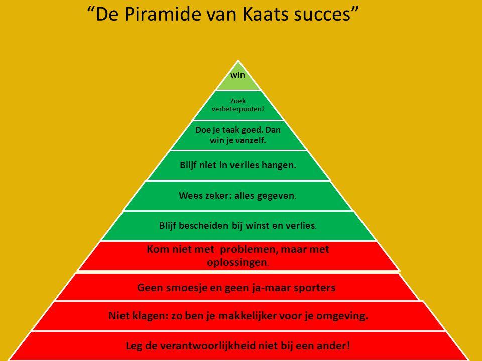 De Piramide van Kaats succes