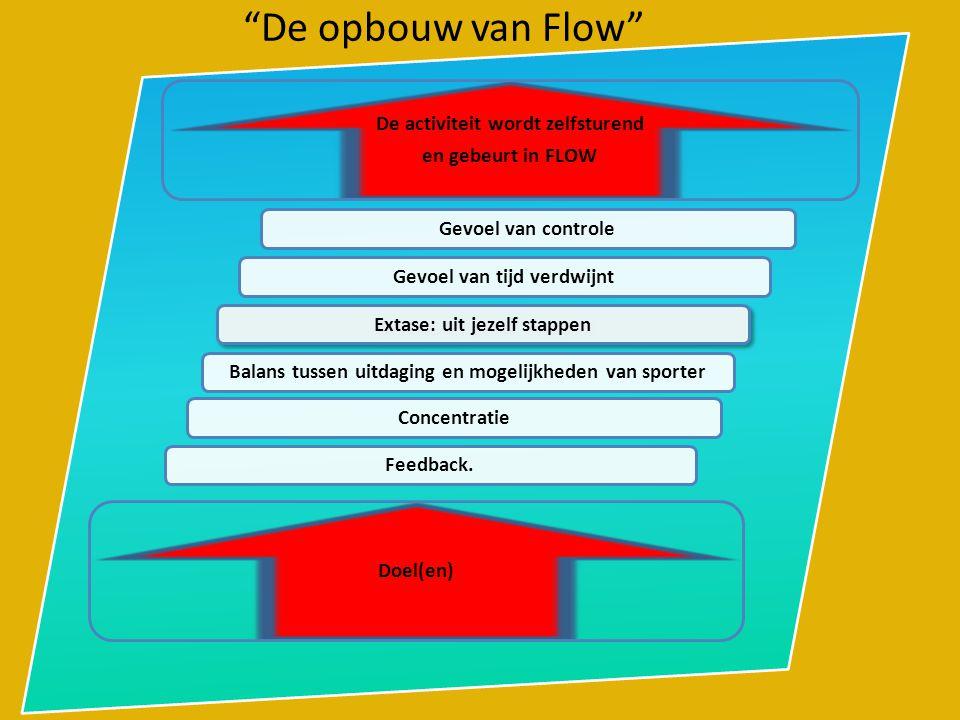 De opbouw van Flow De activiteit wordt zelfsturend