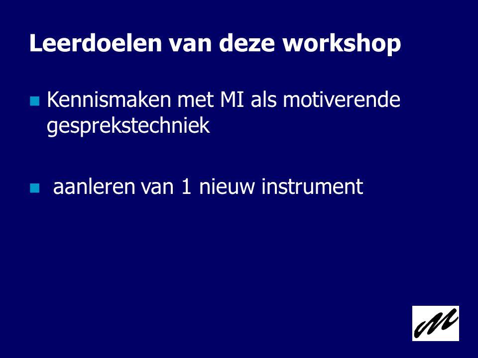 Leerdoelen van deze workshop