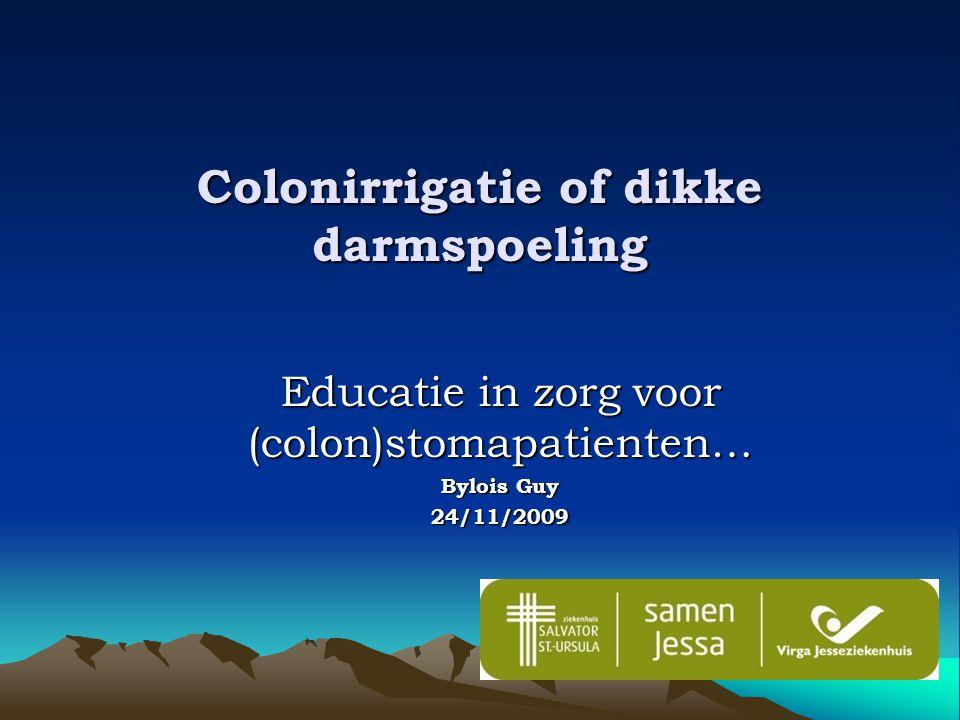 Colonirrigatie of dikke darmspoeling