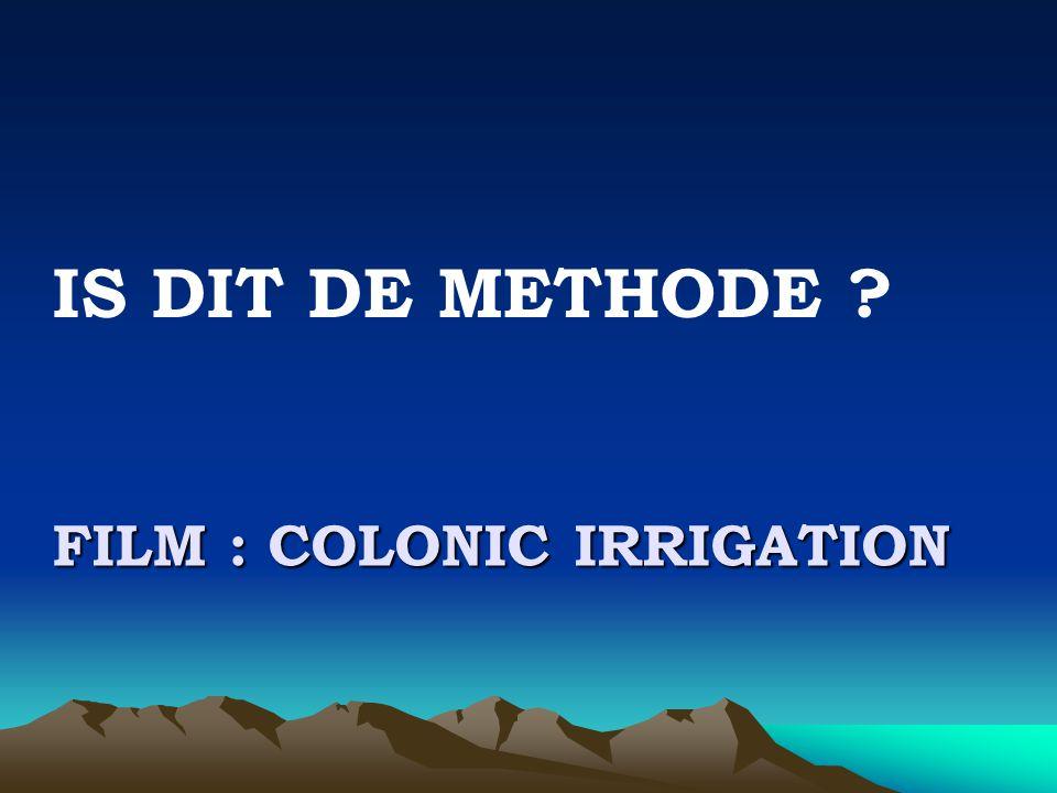 Film : colonic irrigation