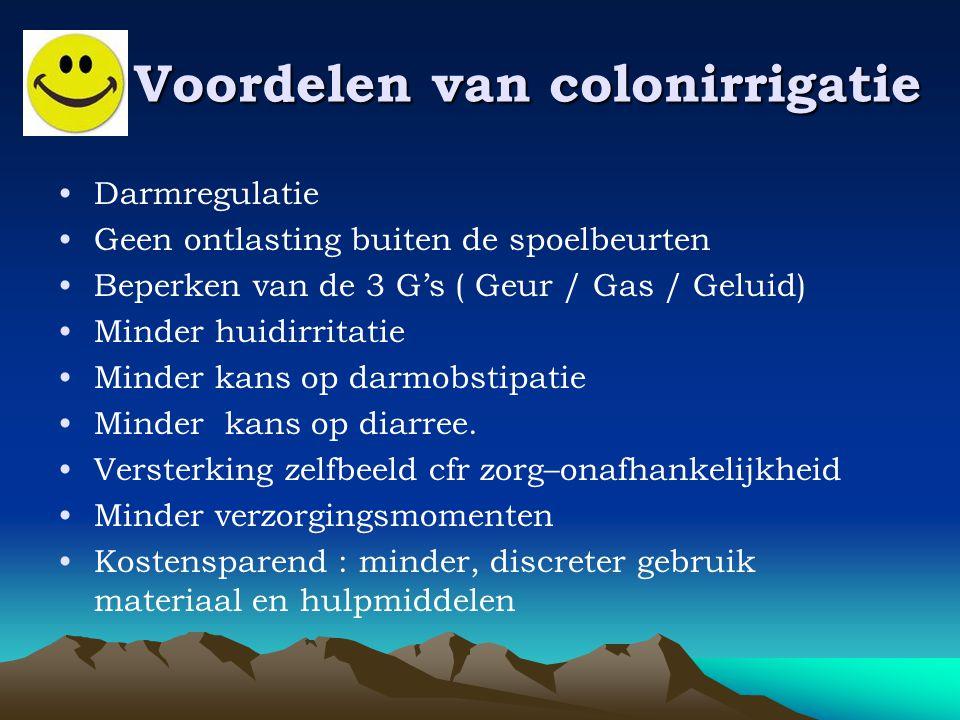 Voordelen van colonirrigatie