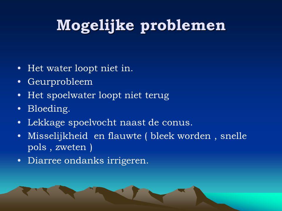 Mogelijke problemen Het water loopt niet in. Geurprobleem