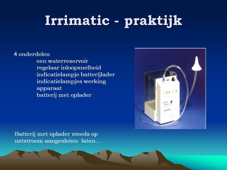Irrimatic - praktijk 4 onderdelen een waterreservoir