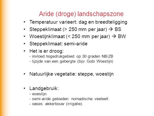 Aride (droge) landschapszone