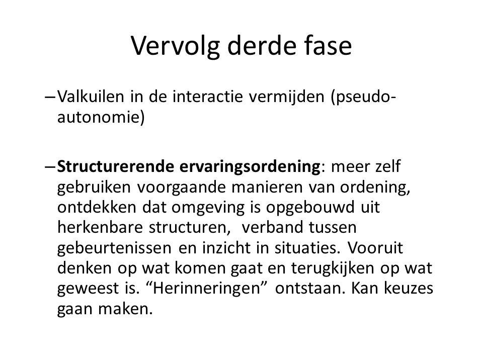 Vervolg derde fase Valkuilen in de interactie vermijden (pseudo-autonomie)