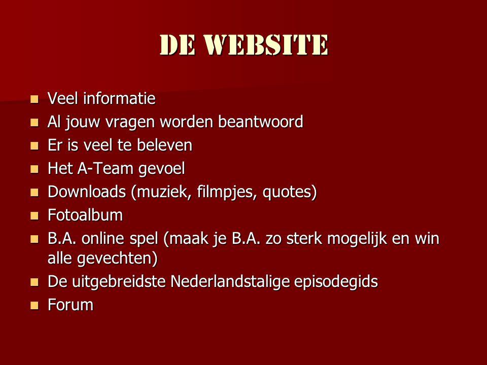 De website Veel informatie Al jouw vragen worden beantwoord