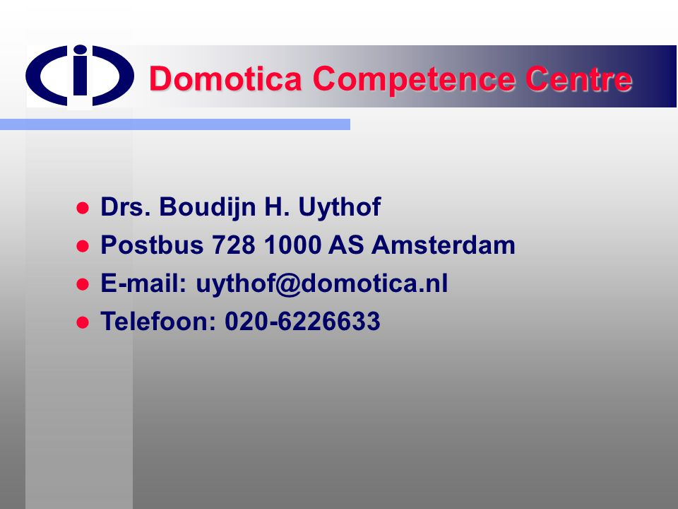 Domotica Competence Centre