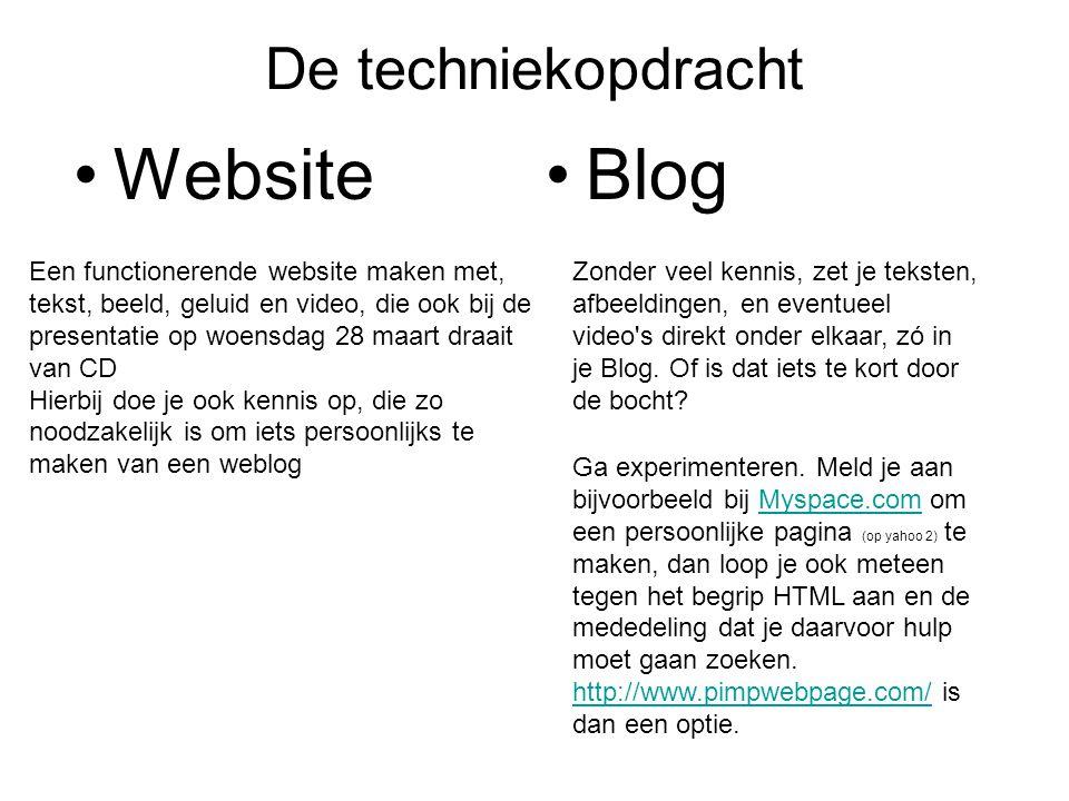 Website Blog De techniekopdracht