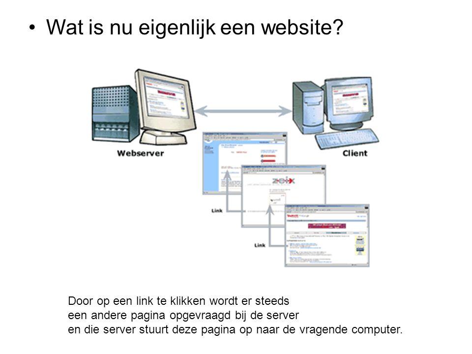 Wat is nu eigenlijk een website