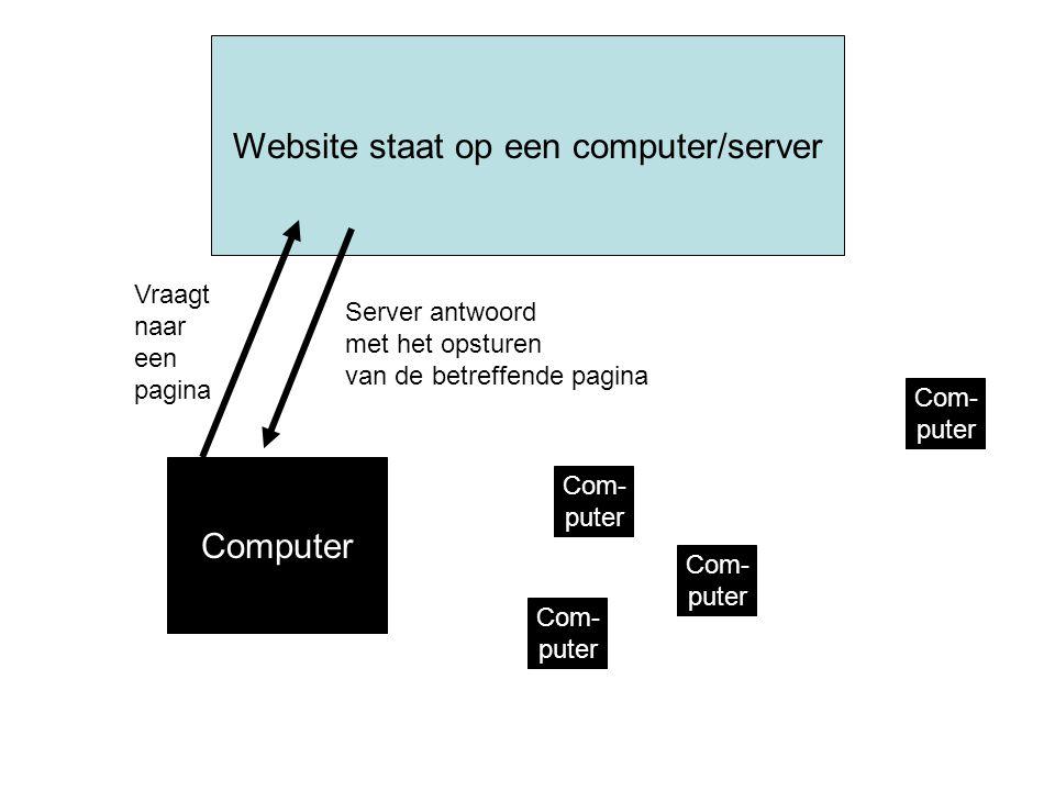 Website staat op een computer/server