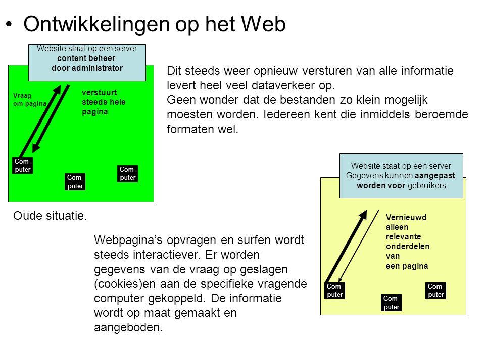Website staat op een server content beheer door administrator
